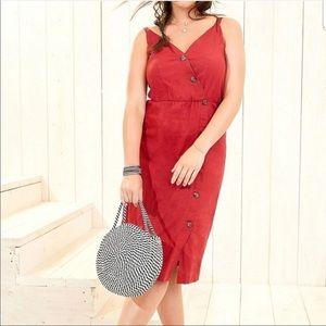 MAURICES Plus Size NWT Linen Button Front Dress 2X